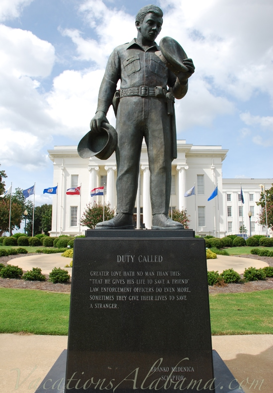 Duty Called Sculpture Alabama State Capitol Montgomery