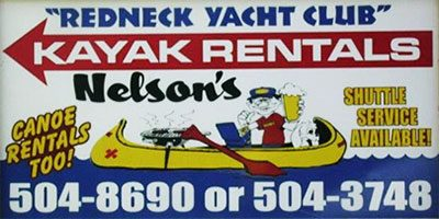 Redneck Yacht Club Canoe and Kayak Rental Terrapin Creek Piedmont Alabama