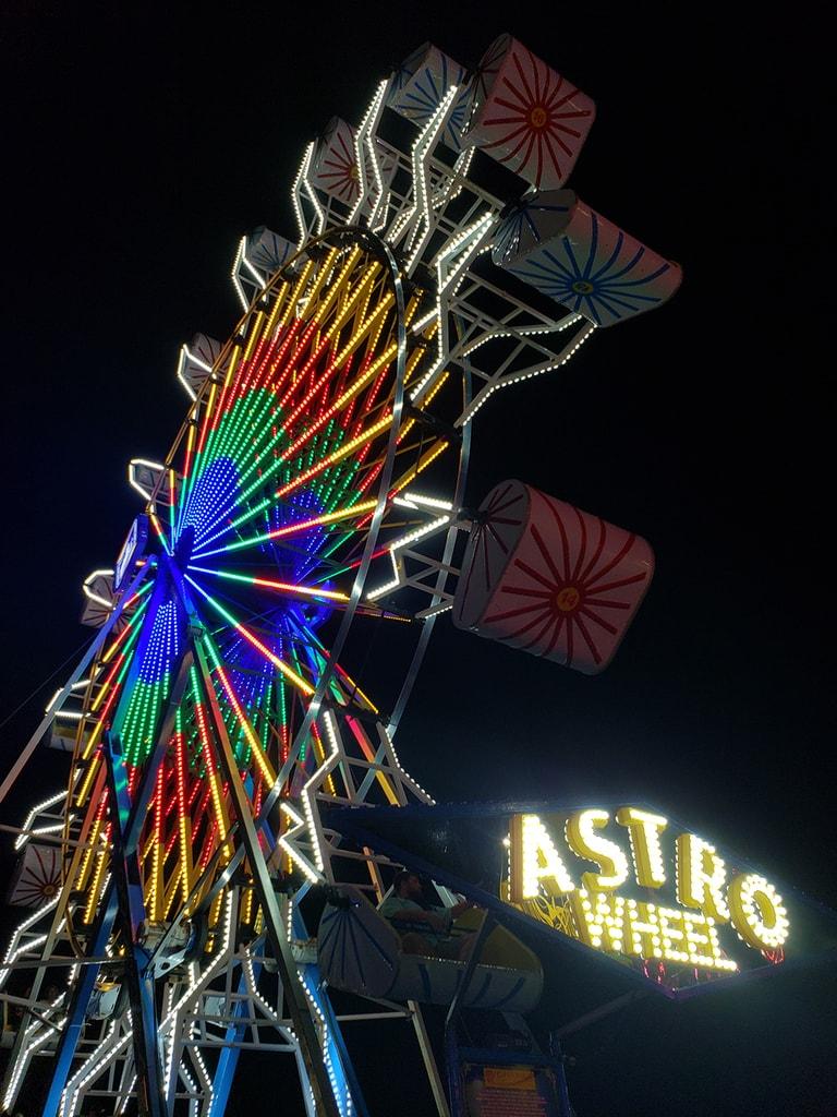 Big Ole Ballpark Fair 2020 Huntsville Alabama Astro Wheel